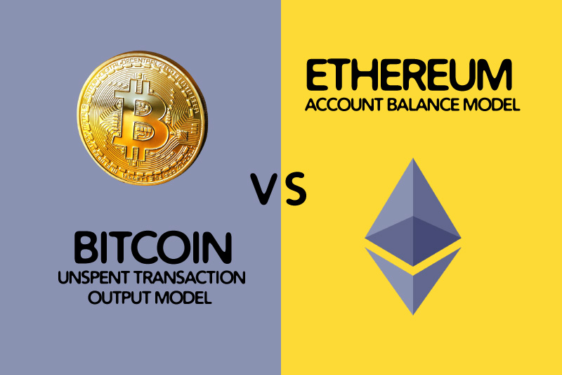 Bitcoin UTXO vs Ethereum Account balance model